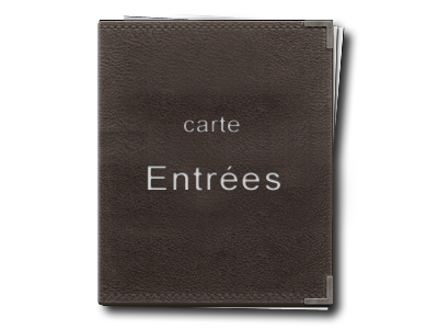Carte des Entrees